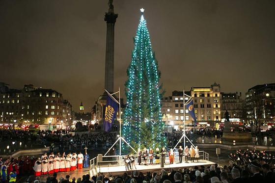 特拉法加广场圣诞点灯